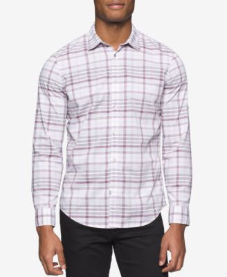 Calvin Klein Men's Long-Sleeve Bold Variegated Shirt