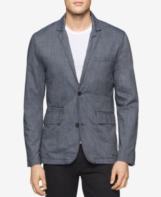 Calvin Klein Men's Chambray Blazer