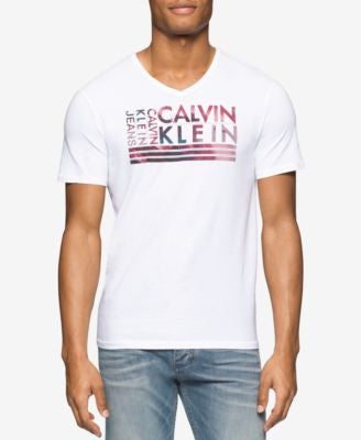 Calvin Klein Men's Wave Logo Graphic-Print T-Shirt