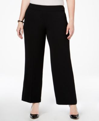 Alfani Plus Size Wide-Leg Pants, Only at Vogily