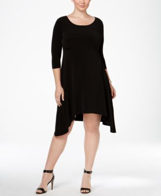Alfani Plus Size Fit & Flare Knit Dress, Only at Vogily