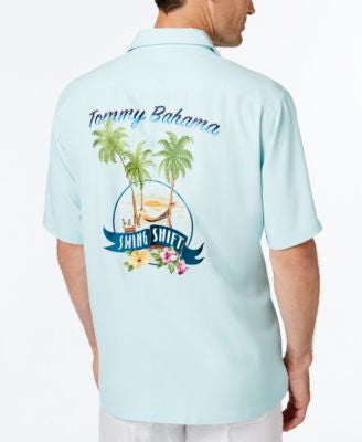 Tommy Bahama Men's Swing Shift Graphic-Print Short-Sleeve Silk Shirt