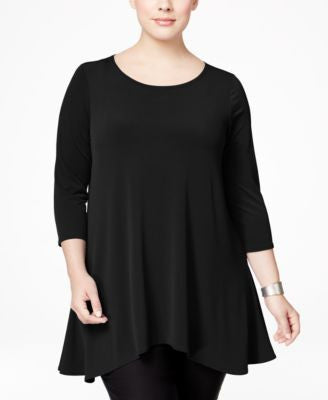 Alfani Plus Size Swing Top, Only at Vogily