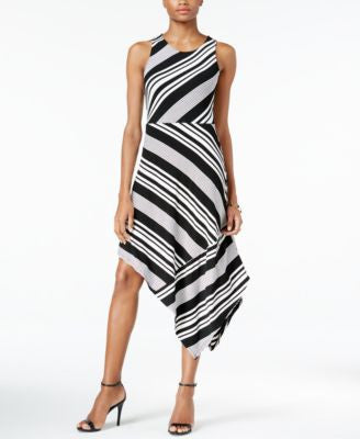 Bar III Assymetrical Striped Dress, Only at Vogily