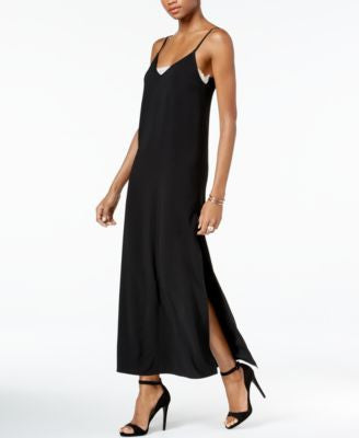 Bar III Lace-Inset Slip Dress, Only at Vogily