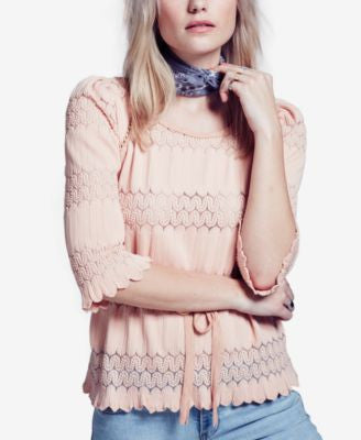 Free People Fire Island Open-Knit Top