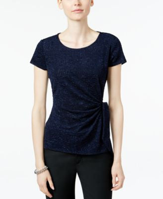 MSK Glitter-Detail Side-Tie Top
