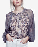Free People Hendrix Printed Peasant Top
