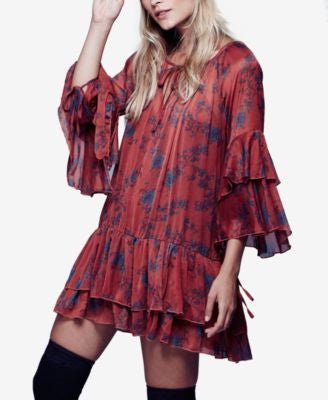 Free People Sunsetter Printed Mini Dress