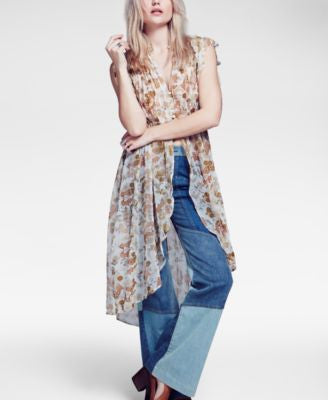 Free People Lady Of Avalon Sheer Printed Tunic