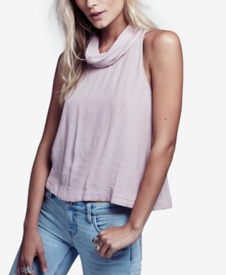 Free People City Lights Cowl-Neck Tank Top