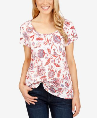 Lucky Brand Printed Short-Sleeve T-Shirt