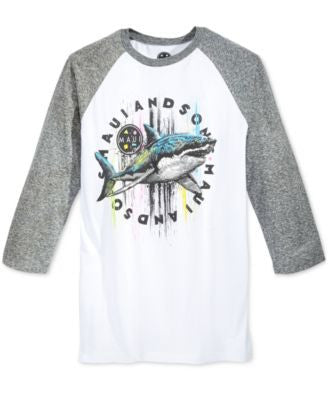 Maui and Sons Men's Raglan-Sleeve Graphic-Print T-Shirt