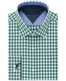 Tommy Hilfiger Men's Slim-Fit Green Check Liberty-Print Dress Shirt