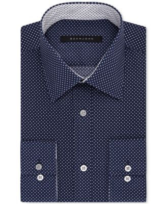 Sean John Men's Big & Tall Classic-Fit Dot Dress Shirt