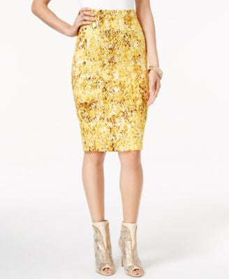Thalia Sodi Printed Scuba Pencil Skirt, Only at Vogily