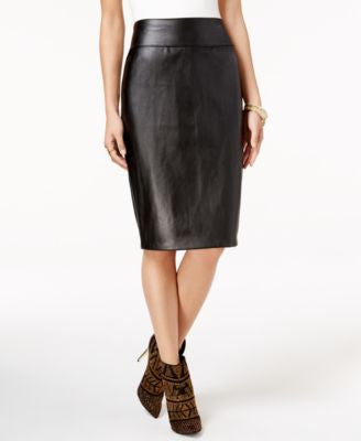 Thalia Sodi Faux-Leather Pencil Skirt, Only at Vogily