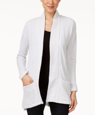 Eileen Fisher Organic Cotton Twisted Terry Shawl Cardigan