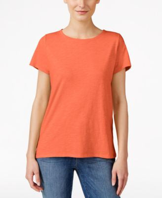 Eileen Fisher Petite Round-Neck T-Shirt
