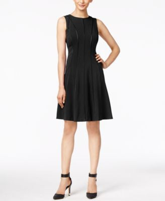 Calvin Klein Piped Fit & Flare Dress