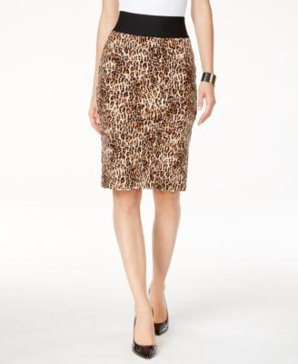 INC International Concepts Petite Printed Pencil Skirt, Only at Vogily