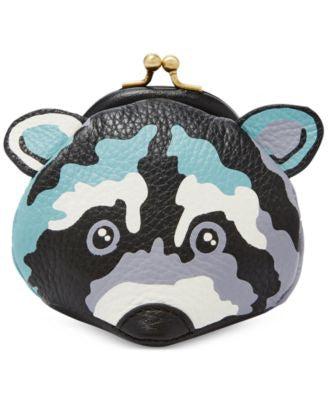 Fossil Raccoon Leather Coin Purse
