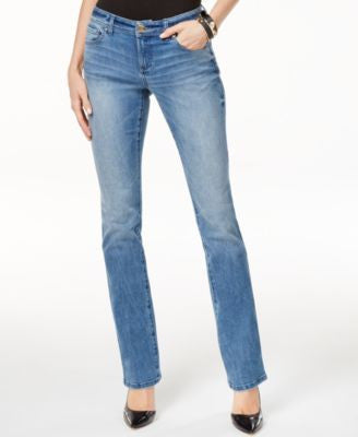 INC International Concepts Petite Curvy Monday Wash Bootcut Jeans, Only at Vogily