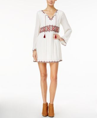 Sanctuary Autumn Fling Embroidered Peasant Dress