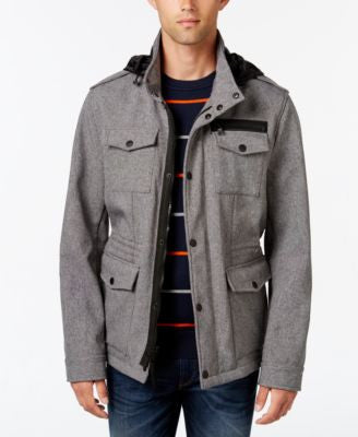 Tommy Hilfiger Men's Soft-Shell Stand-Collar Jacket