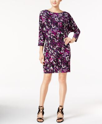 Nine West Printed Blouson Dress