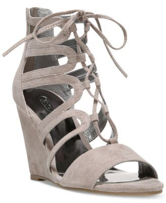 Carlos by Carlos Santana Madelyn Lace-Up Wedge Sandals