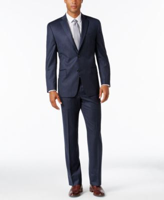MICHAEL Michael Kors Men's Classic-Fit Navy Pinstripe Suit