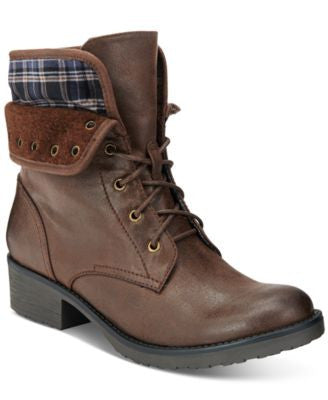 Bare Traps Olympia Lace-Up Booties