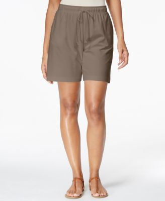 Karen Scott Drawstring Knit Shorts, Only at Vogily