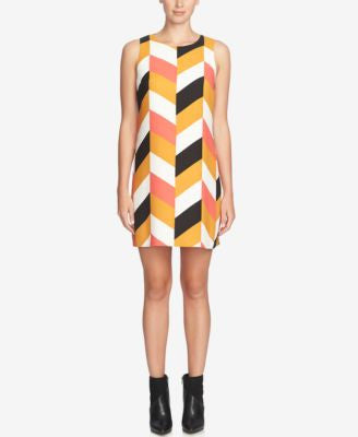 CeCe Arlington Chevron-Print Shift Dress