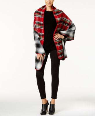 Steve Madden Narrow Panel Plaid Blanket Scarf