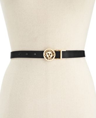 Anne Klein Reversible Lion Buckle Belt