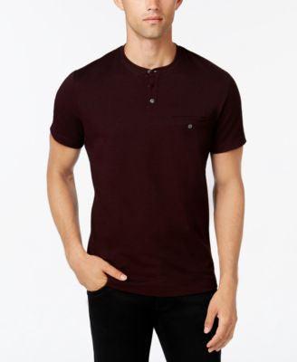 Alfani Men's Short-Sleeve Pique Henley T-Shirt