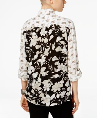 Style & Co. Floral-Print Button Down Shirt, Only at Vogily