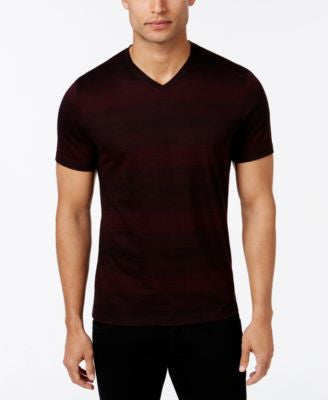 Alfani Men's Slim Striped V-Neck T-Shirt, Only at Vogily