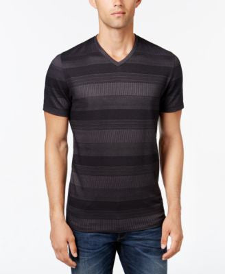 Alfani Men's Stripe V-Neck T-Shirt, Slim Fit