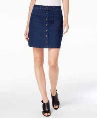 TWO by Vince Camuto Twilight Wash Denim A-Line Skirt