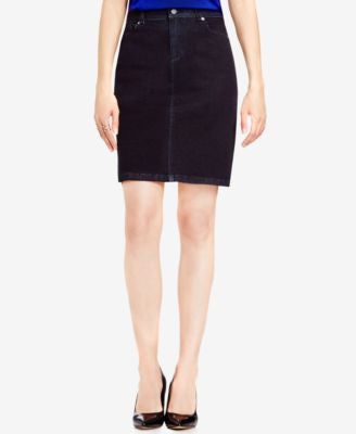 TWO by Vince Camuto Inkwell Wash Denim Pencil Skirt