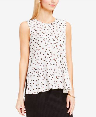 Vince Camuto Animal-Print Peplum Top