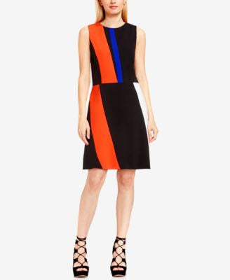 Vince Camuto Colorblocked Fit & Flare Dress