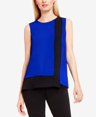 Vince Camuto Layered Colorblocked Blouse