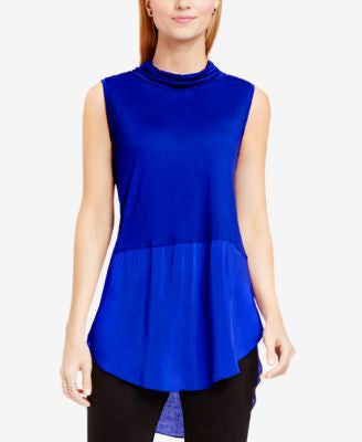 TWO by Vince Camuto Mixed-Media Tunic Top