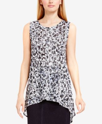 TWO by Vince Camuto Burnout Animal-Print Tunic