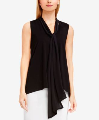 Vince Camuto High-Low Tie-Neck Top