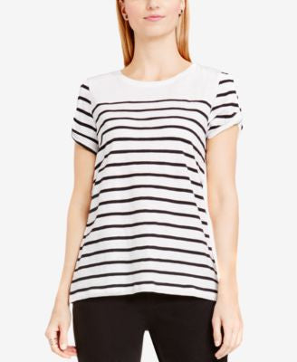 TWO by Vince Camuto Striped Split-Sleeve Top